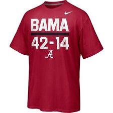 Alabama Crimson Tide 42-14 Final 2012 BCS Champions t-shirt Nike new Roll Tide