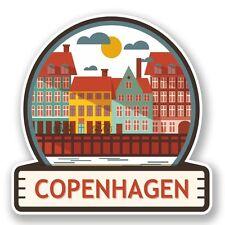 2 x Copenhagen Vinyl Sticker Laptop Travel Luggage Car #5887
