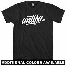 Antifa T-shirt - Men S-4X  Gift Anti-Fascist Fascism Fight Nazis Action Anarchy