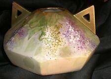 Austria  Wahliss  Vienna Turn Amphora Vase  Lilac   gilded handles 1890