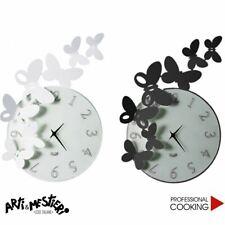 Arti e Mestieri orologio da parete design butterfly tondo cm. 46 x 34