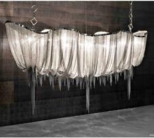 Boat Tassel Chain Pendant Lamp Shade Aluminum Chain Chandelier Ceiling Light New