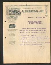 """PARIS (X° Arrt) USINE D'AUBERVILLIERS de PEINTURE """"A. FREITAG"""" en 1919"""