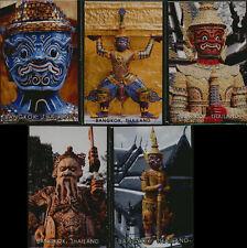 Kühlschrankmagnet 5 x Thailand Tempelwächter & Dämonen