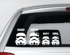 Personalized Star Wars Family Car Window Bumper Decal Grpahics Art Sticker B70