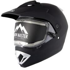 Snow Master TX-45 Flat Black Dual Sport Snowmobile Helmet