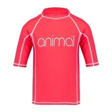 Girls Animal Short Sleeve Rash Swim Top/Clothes