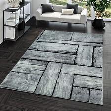 Kurzflor Teppich Preiswert Pflegeleicht Modern Holz Optik Grau Weiß Meliert