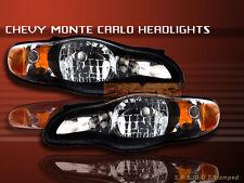 2000-2005 CHEVY MONTE CARLO HEADLIGHTS JDM BLACK 2-DOOR COUPE 2001 2002 2003