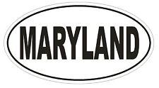 Maryland Oval Bumper Sticker or Helmet Sticker D2336 State Euro Oval