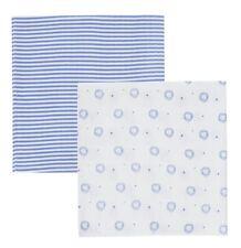 ASMi® Mullwindel Sterne blau Spucktücher Mehrzwecktücher Windel 3er Pack Baby