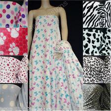 Coral Micro Premium Quality Luxurious Ultra Soft Pattern Fleece Fabric Free P&P