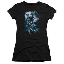 Batman DC Comics Moonlight Catwoman Juniors Sheer T-Shirt Tee