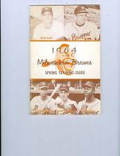 1964 Braves Spring Training Guide Hank Aaron