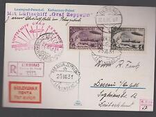 1931 RUSSIA USSR Graf Zeppelin Icebreaker Malyguin Cover Polar Flight  # C26 C28
