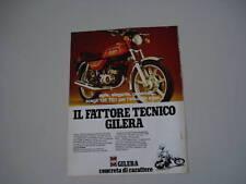 advertising Pubblicità 1980 MOTO GILERA TG1 125