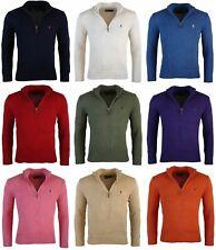 Polo Ralph Lauren Men's 100% Cotton Half Zip Sweater