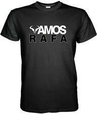 NEW VAMOS NADAL RAFAEL NADAL BLACK WHITE T Shirt TENNIS WIMBLEDON  S - 3XL