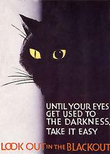 British World War 2 Blackout Poster A3 / A2 Print