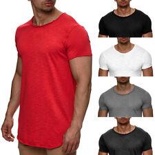 INDICODE Herren T-Shirt Oversize Slim Fit Poloshirt Hemd V-Neck Tanktop Kurzarm