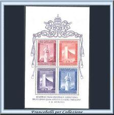 Vaticano 1958 Foglietto Bruxelles n. BF 2 Nuovo Integro **