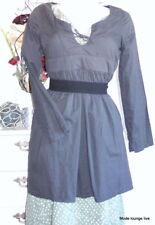 Detalles para NOA NUEVO túnica blusa L 40 Callie algodón garantizar Gris Vestido