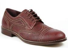 Ferro Aldo Wine Red Lace up Wingtip Oxford Dress Shoes MFA-139357E