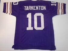 UNSIGNED CUSTOM Sewn Stitched Fran Tarkenton Purple Jersey - M, L, XL, 2XL