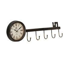 [en.casa]® Horloge murale clé métal déco  design horloge analogue murale