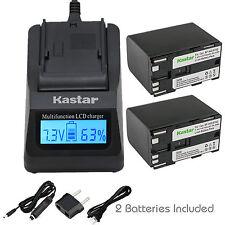 Kastar Battery Charger Canon BP-970G & EOS C300 C300 PL, EOS C500 C500 PL GL2