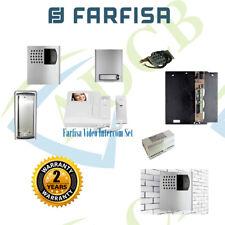 Farfisa Video Intercom Kit Flats Villa Door Phone Entry System Complete Keypad