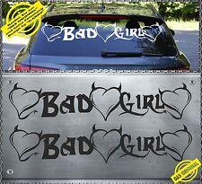 2 x BAD GIRL Aufkleber Sticker Heckscheiben Böses Mädchen pussy kitty BGH-1 80cm