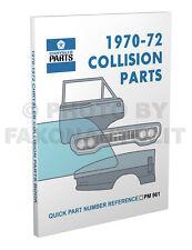 1970-1971-1972 Dodge Body Part Book Challenger Dart RT Swinger Collision Catalog