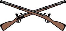 U.S. Army Infantry Crossed Rifles Window Wall Vinyl Decal Sticker Military