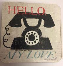 Hello My Love Shabby Chic Drinks Coaster Postcard