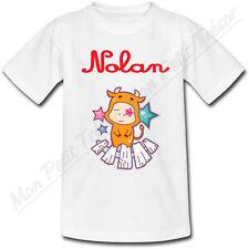 T-shirt Enfant Taureau Horoscope avec Prénom Personnalis��