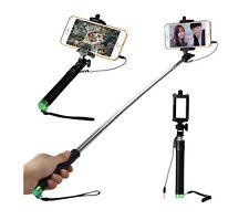 Portable Stretch Selfie Stick Self Photo Shutter w Phone Holder - iPhone & more