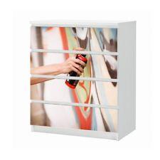 Set Möbelaufkleber für Ikea Kommode MALM 4 Fächer Graffiti Folie 25B776