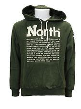 Felpa da uomo verde North Sails hoodie jason con cappuccio manica lunga cotone
