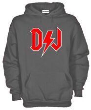 Felpa Rock DJ KJ572 Deejay Punk Rock and Roll Music Party Hoodie cotone