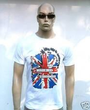 Union Jack Go Ahead londres punk rocker UK t-shirt S/M