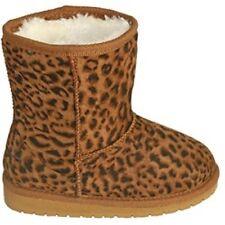 New DAWGS Sheepdawgs Boots, Kids size 2/13 - Leopard Print, Slip on