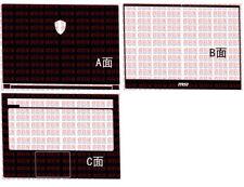 "Laptop Carbon fiber Vinyl Skin Sticker Cover guard For MSI GS65 15.6"""