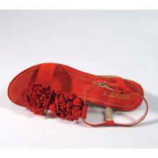 Keys sandalo zeppa tacco medio camoscio mattone scarpe donna 36 37 38 39 40