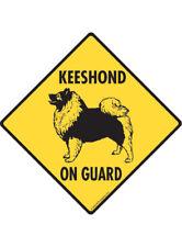 Warning! Keeshond On Guard Aluminum Dog Sign and Sticker