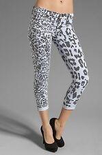 NWT HUDSON Harkin Black White Leopard Crop Super Skinny Jeans, 26 27 28 29 $172