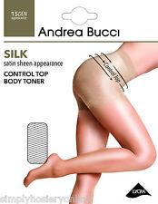 ANDREA BUCCI bodytoner Control Top Medias 15 Denier Satén Seda Brillo Brillante