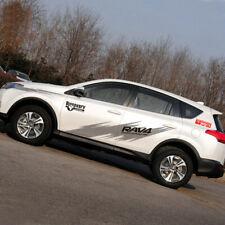 Graphics Vinyl Stripe Car Sticker Fit For Toyota RAV4 Side Doors Decal 2 Sides