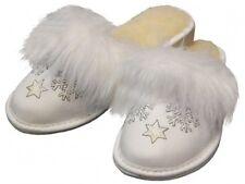 Damen Hausschuhe warm - Größe 36-41 - Echtleder - Latschen,Pantoffeln - XG11BI