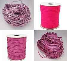1 m PU Lederband geflochten PU Leather Cord braided Schmuckband Schmuckkordel